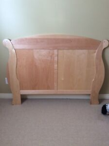 Solid Full/Double  Birch headboard & dresser/change table combo