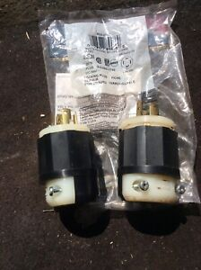 Two new 30 amp twist lock male plugs