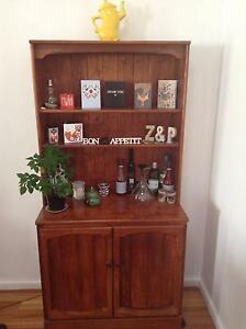 Vintage solid pine display cabinet Carlton Melbourne City Preview