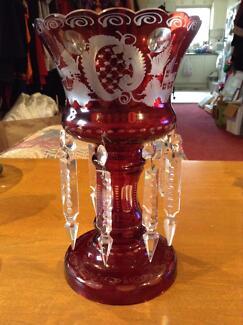 Antique Ruby lustre vase