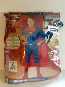 Superman Man of Steel Halloween Costume Child Size L