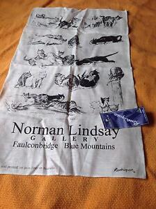 Norman Lindsay Tea Towel cats BNWT Rrp $15 Dulwich Hill Marrickville Area Preview