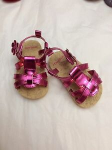 Baby girl size 3 shoes.  Pink