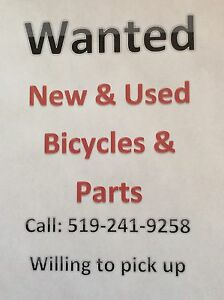 Wanted New and Used Bicycles and Parts