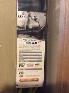 New Line Tiger Snake twin tip park ski 164cm long with bindings.