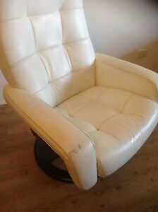 Leather Recliner Chair with Footstool Currumbin Gold Coast South Preview