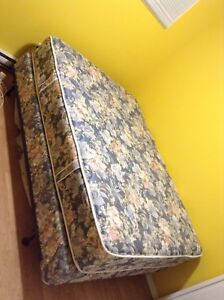 Double mattress and bed frame