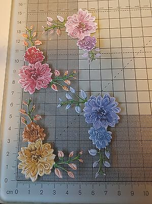 PK 8 Die Cuts Tattered Lace Charisma Peony Corners 10 colour choices