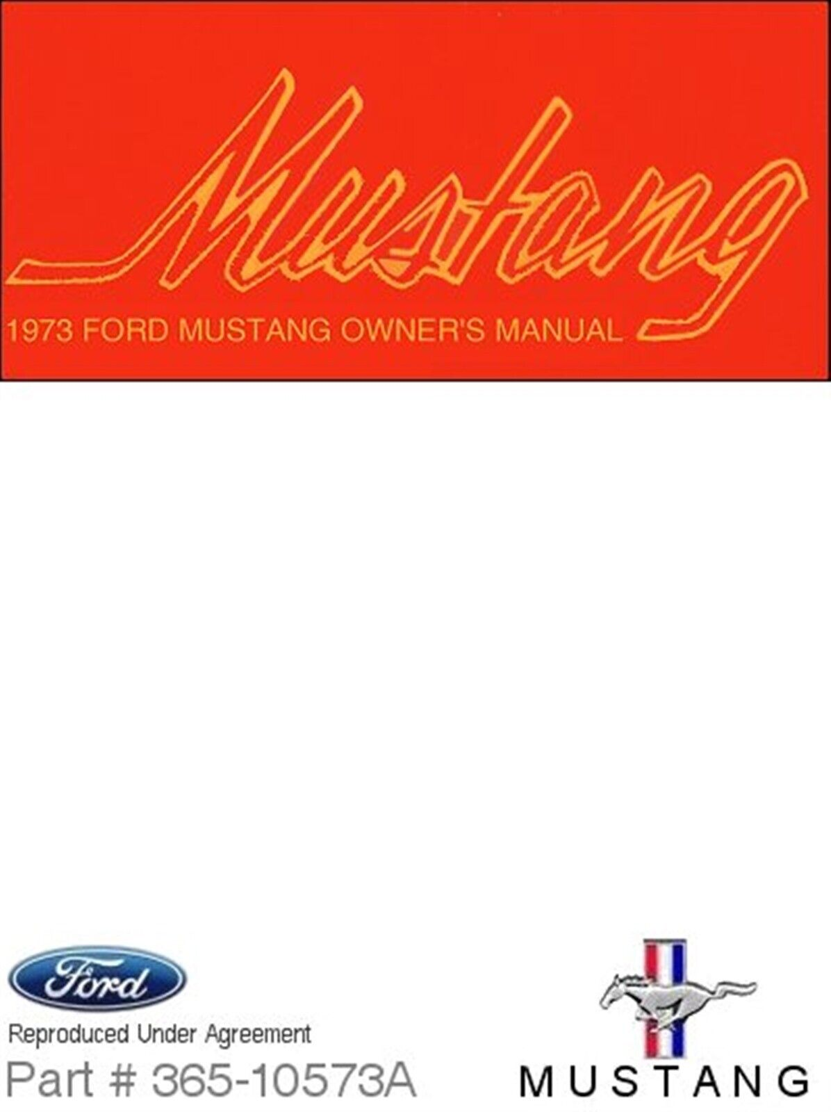 1973 Ford Mustang Owner's Manual