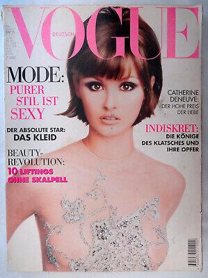 Vtg Vogue Deutsch 8/1995 Karl Lagerfeld Rita Hayworth Linda Evangelista Ali Khan