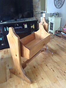 SOLID PINE BABY ROCKING CRADLE