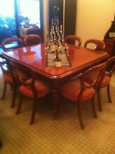 Versatile Antique Extension Table and Chairs - can deliver Berry Shoalhaven Area Preview