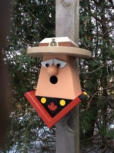 Royal Canadian mounted police officer birdhouse