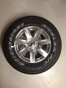 Set of 5 brand new rims and tires