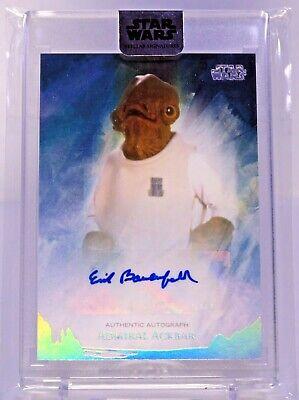 "2018 Star Wars Stellar ""Erik Bauersfeld as Admiral Ackbar"" Autograph Card 03/37"