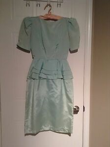 Green Taffeta Dress