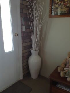 White vase with twigs