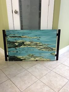 Beautiful painting on canvas and wood design