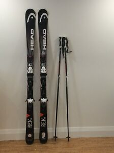 Men's 170 cm Downhill Skis And 54 inch Poles
