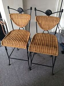 Rattan & Iron Bar Stools Newport Pittwater Area Preview
