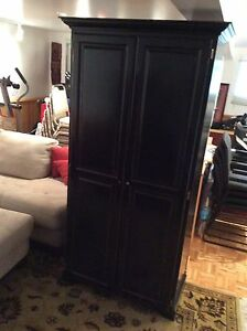 Wardrobe Custom ~Black Milk Paint Distressed Brazilian Hardwood