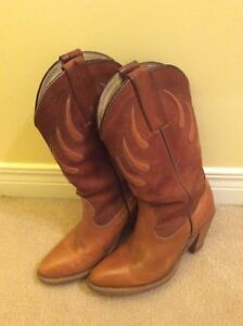 """Women's leather cowboy boots by """"Frye"""" -  6.5/7. -  Value: $350."""