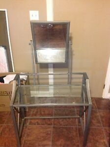 Glass makeup Table with Mirror