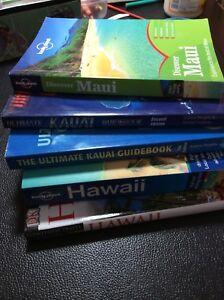 Hawaii travel books- set of 5