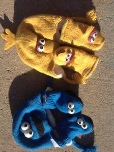 Sesame Street toddler hat & mitts
