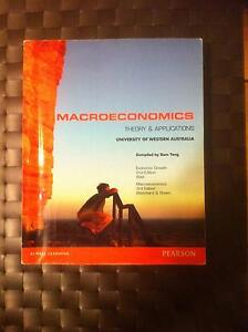 Macroeconomics Theory and Applications South Perth South Perth Area Preview