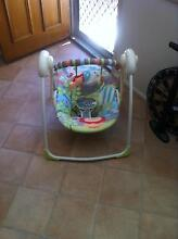 Bumbo seat and tray.  Bright stars baby swing Cranbrook Townsville City Preview