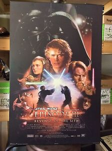 Laminated movie poster