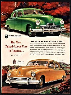 Oct. 1946 KAISER Special and FRAZER by Graham Paige Vintage Print Car AD for sale  Woodsville