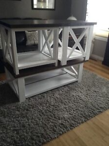 Rustic X End Tables