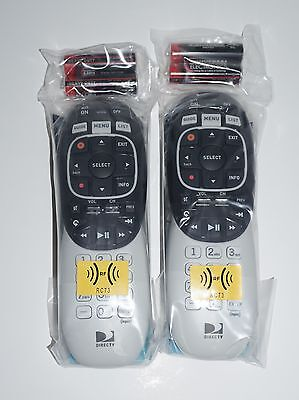 Lot of 2 (two) New DIRECTV RC73 RF/IR Remotes W/ Batteries DTV