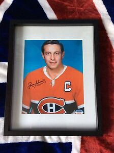 Montreal Canadiens legends signed and framed photos