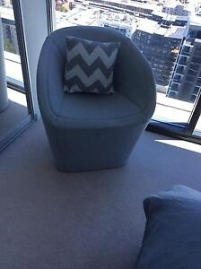 Ex display designer grey designer chair East Perth Perth City Area Preview