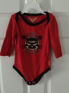 Red Unisex Victory Motorcycle Onesie Size 12-18 months