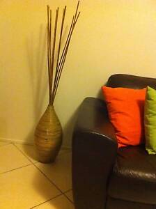 Multi coloured fibreglass decorative pot and bamboo stakes Sydney City Inner Sydney Preview