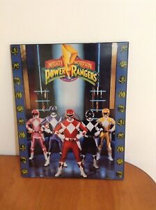 Vintage Mighty Morphin' Power Rangers Mounted Wood Poster
