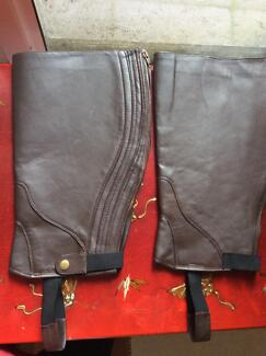 Brown leather chaps-EXTRA WIDE Gelorup Capel Area Preview