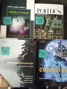 Abnormal Psychology, Cognition and Canadian Politics textbooks