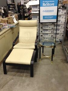 Leather Chair and Ottoman at HFH ReStore