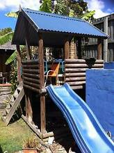Children's Outdoor Play Fort with Slide & Sandpit Manly West Brisbane South East Preview