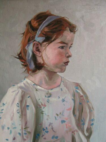 Portrait of a little girl  (original oil painting)