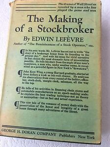 Book - 1925 Issue of The Making of a Stockbroker