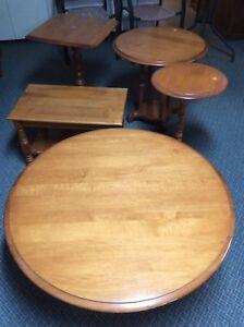 Tables de salon en chên vintage