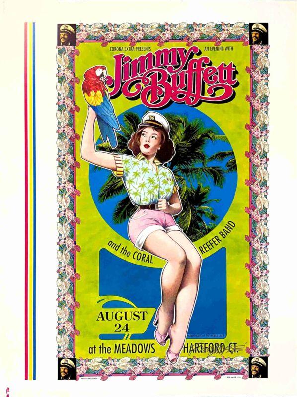 Jimmy Buffett Coral Reefer Band Poster Rare Uncut Proof 96 Hand-Signed Bob Masse