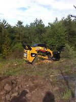 Skid steer and mini hoe services!