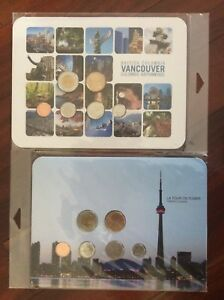 2011 Canada CN Tower and Vancouver Uncirculated RCM Sets